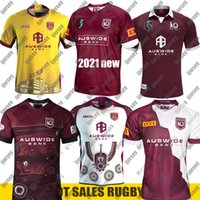 NOUVEAU MAROONS QLD 2021 Home Formation Slater Rugby Jerseys Smith NRL Rugby League Jerseys 2020 Chemise de rugby autochtone Australie Jersey Retro