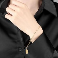 Link, Chain European Fashion Jewelry 2021 Electroplate Bracelet For Women Golden And Silvery Color Metal Love Hand Gifts