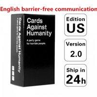 최신 보드 게임 카드 확장 팩 Basic Edition 2.0 카드 자유 시간에 감정을 함께 향상시키는 친구들을위한 두뇌 죽은 체크 장난감
