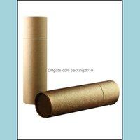 Wydarzenie Świąteczne Dostawy Strona główna Garden10PCS / lot 250g 6,5 cm * 25 cm Wysokiej Jakości Brown / Kraft Color Paper Tube -Stick Craft Container Prezent Pa