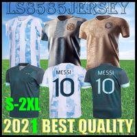 2020 2021 Argentina Messi Soccer Jersey 20 21 كأس الصفحة الرئيسية كرة القدم قميص كرة القدم Dybala Aguero Lo Celso Martinez Tagliafico Men + Kid Kit Endennial Edition