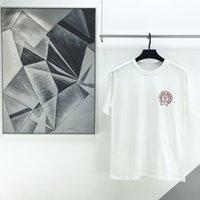 Frühlings- und FHING Mode Sommer Marke ch CR com Carfouflage Graffiti Hufeisendrucken Kurzarm Baumwolle Lose Rundhals-Liebhaber T-Shirt ZWVJ