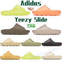 2021 Erkekler Kadınlar Slayt Ayakkabı Terlik Çöl Kum Reçine Toprak Kahverengi Kurum Köpük Koşucu Üçlü Siyah Beyaz Turuncu Çekirdek Erkek Sandalet ABD 5-11