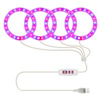 4 Angel Rings LED Grow Light Full Spectrum Plant Lamp For Indoor Seedling Succulents and Bloom Sunlight Pink Red Blue
