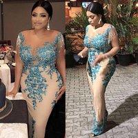 2021 Novo Aso Ebi Estilo Prazeant Vestidos com Tassel Plus Size Africano Rendas Nigeriano Lantejoulas Trompete Ocasião Evening Wear Dress