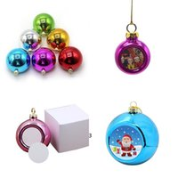Sublimation Blanks 4cm 6cm Christmas Ball Decorations for INk Transfer Printing Heat Press DIY Gifts Craft Can Print OWB10927
