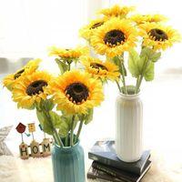 Decorative Flowers & Wreaths Sunflower Taiyanghua Artificial Home Decoration Party Luxury Decor Flower