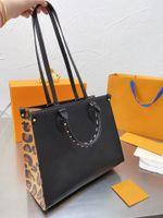 Последние сумки на Go Handbage LeoPard Print Sking Showing 2021 Сумка для большой емкости Мода Высококачественные Дизайнеры Люксы Плеевые Кошельки Оптом