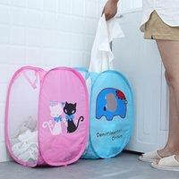 Dibujos animados plegable almacenamiento cestas plegables malla ropa lavado lavandería cesta niños juguetes soldies caja de almacenamiento organizador de ropa