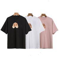 2021 oso de moda impreso t shirt camiseta hombre mujer negro blanco camisetas para hombre mangas cortas polos Tamaño S-XL