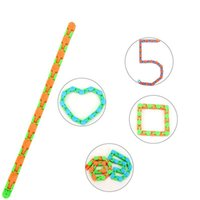 24-section chain tops Fidget Snake Puzzle Wacky Tracks Snap and Click Sensory Toys Kids Adult Anxiety Stress Relief ADHD Needs Educational Party Keeps Fingers Busy