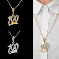 Chains Fashion 100 18K Gold Full Diamond Pendant Necklace Men And Women Hip-hop Silver Jewelry Sweater Chain Couple