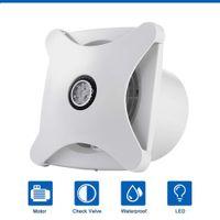 6 '' Ventilatore di scarico silenzioso per il bagno Cucina Ventilazione Finestra Soffitto a parete a parete Air Extractor Inline Duct Ventilatore HGA-150b