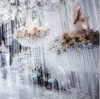 10mm pärlor kedja diy bröllop gardin dekorationer leveranser 30meter krans diamant parti sträng klar akryl kristall