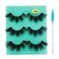 3 Pairs Eyelashes Fluffy With Brushes Natural Long Eyelash Extension Wispy Lashes Kit Make Up For Eye Wholesale Vendors