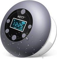 Duş Radyo Bluetooth Hoparlör Mikrofonlu Su Geçirmez Taşınabilir Banyo, FM, LCD Ekran Hoparlörler