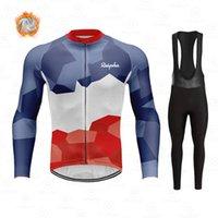 2022 겨울 양털 사이클링 유니폼 Ropa Ciclismo 남자 raphaful 야외 긴 자전거 의류 자전거 유니폼