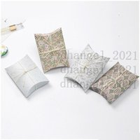 Pillow Box Chocolate Candy Cookie Wedding Party Baby Shower Favor Gift Pillow Packaging Boxes Pattern Gift Box CT0263