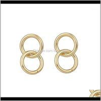 & Hie Jewelrylwong Double Hoop For Women Gold Color Small Circle Earrings Boho Chic Simple Minimalist Hoops1 Drop Delivery 2021 8Wxtq