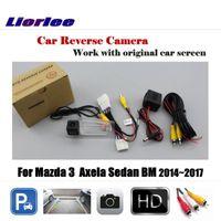 Автомобиль обратная резервная копия парковки заднего вида камеры (6 В) для 3 Axela Sedan BM 2014-2021 Оригинальный экран HD CCD аксессуары заднего вида камеры камеры SEN SEN