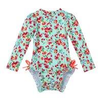 Abiti da un pezzo 2021 Baby Girls Babywear Costumi da bagno stampati con volant bambini costume da bagno spiaggia costume da bagno costume da bagno