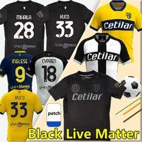 2021 Blackout Parme Black Lives Matter Soccer Jerseys Cornelius Karamoh Maglia Inglese Gervinho Kuco Chemise de football Grassi Kurtic Hommes Jersey