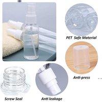 Garrafa de pulverização portátil transparente plástico recarregável recipiente cosmético viajar mini perfume garrafas vazias hwb6036