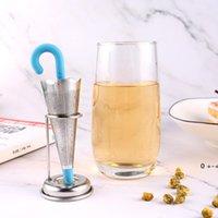 Paraguas Té Infusor Bola Forma Flojo Hoja Silicona Strainer Shark Owl Filter Acero Inoxidable Cocina Teaware FWE9992