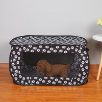 Pet Dog Cat Cage Tent Portable Folding Rectangular Playpen Fence Puppy Kennel Play Tunnel Breathable Houses Kennels & Pens