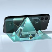 Craft Tools Pyramid Phone Stand Mold Diy Epoxy Resin Gold Tower Bracket Holder Moulds Silicone Jewelry
