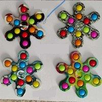 Nieuwe Push It Fidget Toys Double-rij Patroon Vinger Bubble Press Relief Vingertop Toy Stress Educatief Kids Baby Gift Sensor Vingers Spinner
