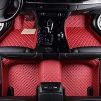 Car Floor Mats For Chevrolet Chevy Tahoe 5 Seats 2002-2018 2019 Flash Mat Leather Custom Foot Pads Automobile Carpet Covers