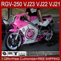 OEM-voogdingen voor Suzuki RGV250 SAPC VJ23 RVG250 250CC VJ 23 Cowling RGV-250CC 97 98 Carrosserie 107HC.6 RGV-250 Panel RGVT-250 RGVT RGV 250 CC 1997 1998 Bodys Lucky Pink Stock