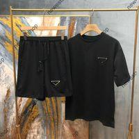 2021 Yeni Yaz Erkekler Tasarımcı Eşofman Setleri Erkek Moda Mektup Baskı Koşu Takımları T-shirt Kısa Kollu Spor Gömlek M-XXL