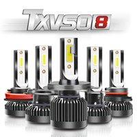 TXVSO8 G2 Car LED Headlight H1 H4 H7 H8 H9 H11 9005 9006 9012 10000 Lumens No Dead Angle Lighting For Peridua Proron Toyota Nissan Mazda BMW Ford Auto Light 2PCS