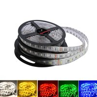 5V 12V 24V LED Light Strip TV Backlight Waterproof SMD 5050 5M Warm White RGB LED Strip Light For Room Bedroom
