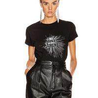 Yaz Kadın O-Boyun T-shirt Pamuk Marka SL Mektup Baskı Tee Kadın Yüksek Kaliteli Rahat Erkekler Artı Boyutu Kısa Kollu G10 210408 Tops