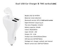 ANC Tek Kulak 5.0 Kablosuz Bluetooth Kulaklık Şarj Gürültü Azaltma Cep Telefonu UBS Çift Bağlantı Noktası 2 IN 1 Çıkış Içinde IN 1 Çıkış TWS için 3RD Nesiller AP2 AP3