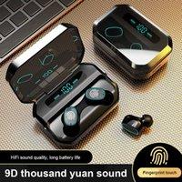 Auricolari Bluetooth TWS TWS M8 / C1 Cuffie wireless impermeabile -Compatible Touch Control 9D Cuffie wireless stereo