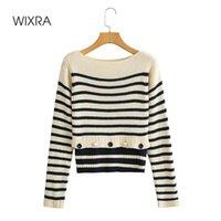 Sweaters de Femmes Wixra Pullovers Soft Autumn O-Col Tops Daily Tops Womens Élégant Élégant Patchwork Tricoté
