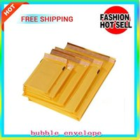 Many Sizes Yellow Kraft Packaging Bags Bubble Mailing Envelope Bag Mailers Padded Express Envelopes