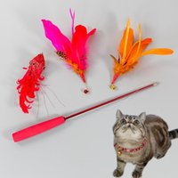 Cat Toys Interactive Toy Stick Bite-resistant Long Rod With Bell Fishing Molar Pet Supplies Self Hi