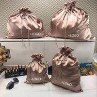 Wrap prezent Rose Gold Color Satin Torba do opakowań Biżuteria / Makeup / Prezent / Wedding / Party / Storage / Peruki / Bundle Torby Sztukowe Luksusowy Silk Studka