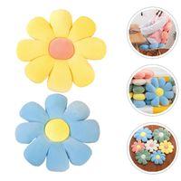 Kissen / Dekoratives Kissen 2 stücke Kreative Sitzkissen Chic Blume Modellierung Boden Blau gelb