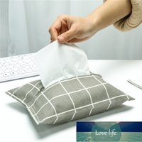 Tissu en coton et tissu de lin Sac Sac Couvercle Coton et lin Simple Hipster Tissue boîte de tissus Restaurant Salon Salon Papier Set