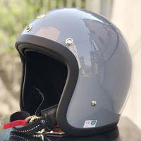 Classic Vintage Retro Helmet Open Face Motorcycle Japan Cafe Racer Antique Motorbike Fiberglass Light Weight Helmets
