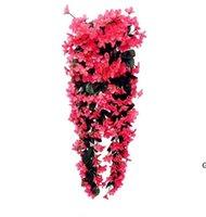 가짜 꽃 패션 바이올렛 인공 꽃 벽 매달려 바구니 꽃 난초 실크 화환 포도 나무 홈 웨딩 파티 가로등 HWD6537