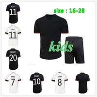 Version des fans Version du joueur Allemagne Jersey Soccer Werner Euro 2021 Muller Gundogan Sain Football Chemises Gnabry Havvertz Kroos Blacked Oout Hommes Jerseys Kits enfants