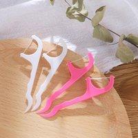 25 unids / set Nochas de plástico de algodón con hilo dental palillo de palillo para la salud oral accesorios de mesa herramienta OPP BAG PACK HWB6060