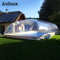 Customized size pvc inflatable Swimming pool cover Transparent Air dome water tent Enclosure